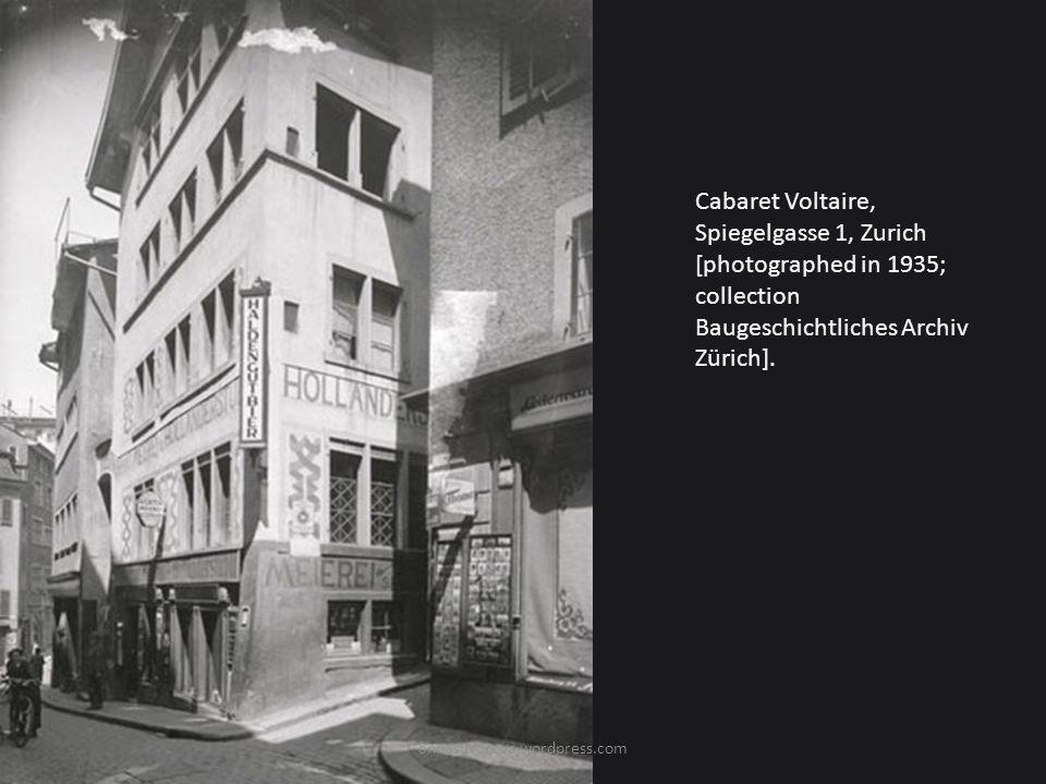 Cabaret Voltaire, Spiegelgasse 1, Zurich [photographed in 1935; collection Baugeschichtliches Archiv Zürich].